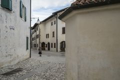 The historic center in Venzone, Friuli, Italy Royalty Free Stock Image