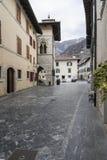 The historic center in Venzone, Friuli, Italy Stock Photo