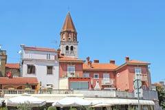 Historic center of Zadar, Croatia, Northern Dalmatia. View of the center old city Zadar. Croatia, Northern Dalmatia. Tower of Sime church croatian - Crkva sv Stock Images
