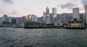 Historic Central Star Ferry Pier in Hong Kong Stock Photos