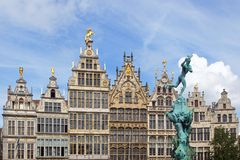 The historic centre of Antwerp. Stock Photo