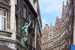 The historic centre of Antwerp. Royalty Free Stock Image