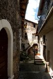 Historic Centre of Assergi - Abruzzo - Italy Stock Images