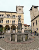 Historic centre of Belluno Stock Images