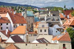 Historic centre of Ceske Budejovice, Budweis, Budvar, South Bohe Stock Photo