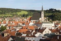 Historic centre of Ceske Budejovice, Budweis, Budvar, South Bohe Stock Photos