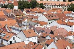 Historic centre of Ceske Budejovice, Budweis, Budvar, South Bohe Stock Photo