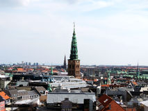 The historic centre of Copenhagen. View from the tower Royalty Free Stock Images