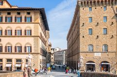 Historic centre in Florence, Italy. Stock Photography