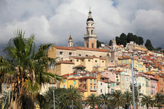 Historic centre of Menton Royalty Free Stock Photo
