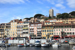 Historic centre and old harbour of Cannes Stock Photo