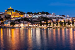 The historic centre of Porto at night Royalty Free Stock Image