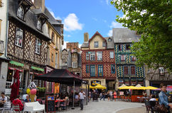 Historic Centre of Rennes - France. Place Sainte Anne in Rennes France. This square is located in the northern part of the historic centre of Rennes Royalty Free Stock Photo