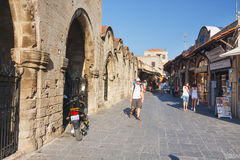 Historic centre of Rhodes Stock Photography