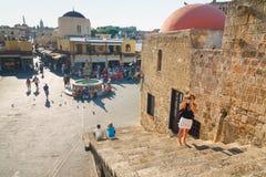 Historic centre of Rhodes Stock Photo