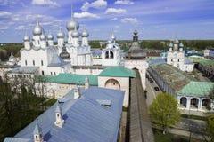 The historic centre of Rostov,Rostov Kremlin, Russia Stock Images