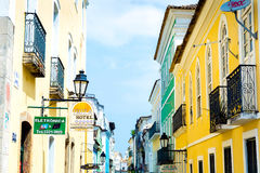 The historic centre of Salvador, Bahia, Brazil Royalty Free Stock Photography