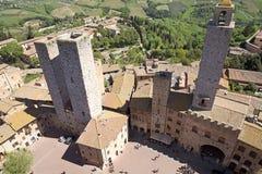 Historic centre of San Gimignano, Tuscany, Italy Royalty Free Stock Photography