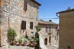 Historic centre of San Gimignano, Tuscany, Italy. Ancient house in the historic centre of San Gimignano, Tuscant, Italy. San Gimignano is a small walled medieval Royalty Free Stock Photo