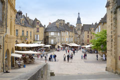 Historic centre of Sarlat, France Royalty Free Stock Photos