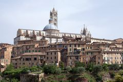 Historic centre of Siena, Italy stock image