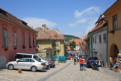 The historic centre of Sighisoara is a Unesco Heritage Site. Stock Photography