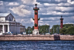 Historic Centre of St. Petersburg. HDR. A beautiful panorama of the historical center of St. Petersburg from the Neva River Embankment. HDR Royalty Free Stock Photo