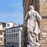 Historic centre and statues in Florence, Italy Stock Photos