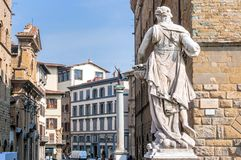 Historic centre and statues in Florence, Italy Royalty Free Stock Images