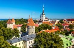 The historic centre of Tallinn, a UNESCO heritage site in Estoni Stock Photos