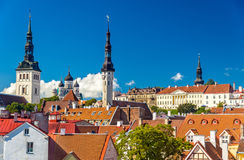 The historic centre of Tallinn, a UNESCO heritage site in Estoni Royalty Free Stock Images