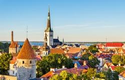 The historic centre of Tallinn, a UNESCO heritage site in Estoni Stock Photography