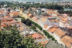Historic centre of Trencin city, Slovakia Royalty Free Stock Image