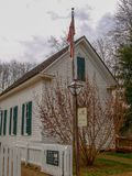 Historic Chapel in Bethania, North Carolina stock photo