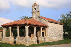 A historic chapel in Istria, Croatia. Historic chapel in Svetvincenat in Istria, roman style, Croatia royalty free stock photo