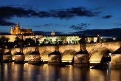 Historic Charles Bridge in Prague Stock Photography