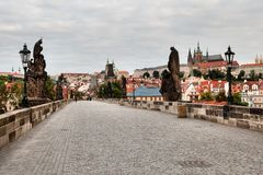Historic Charles Bridge in Prague Royalty Free Stock Image