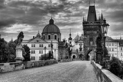 Historic Charles Bridge in Prague Stock Image