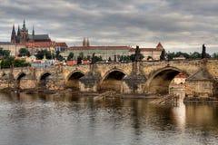 Historic Charles Bridge in Prague Royalty Free Stock Images