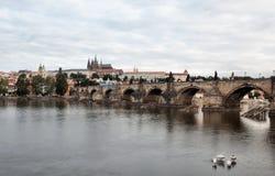 Historic Charles Bridge in Prague Stock Photos