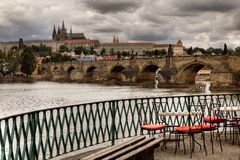 Historic Charles Bridge in Prague Stock Photography
