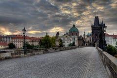 Historic Charles Bridge in Prague Royalty Free Stock Photos