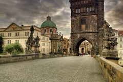 Historic Charles Bridge in Prague Stock Photo