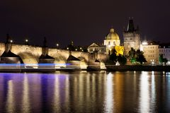 Historic Charles Bridge in Prague. Czech Republic Stock Photos