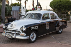 Historic Chevrolet Styleline Police Car Royalty Free Stock Images