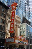 Historic Chicago Landmark Theater Building and Sign - Chicago, Illinois USA Stock Photography