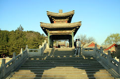 Historic Chinese Pavilion in summer palace royalty free stock images