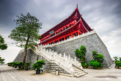 Historic Chinese Tower in Fuzhou, China. Fuzhou, China at the historic Zhenhai Tower Stock Photos