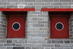 Historic chinese window Stock Photo