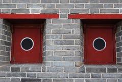 Historic chinese window stock photo